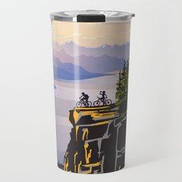 Retro travel BC poster Travel Mug