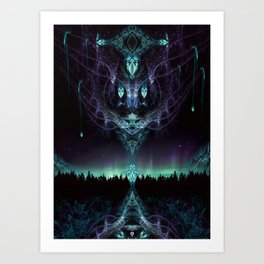 Midnight Aura - Fractal Manipulation - Manafold Art Art Print