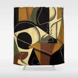 """Juan Gris """"Moulin à café et bouteille ( Coffee grinder and bottle)"""" Shower Curtain"""