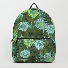 Gillian Floral Green Backpack