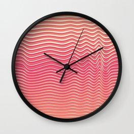 OpArt WaveLines 5 Wall Clock