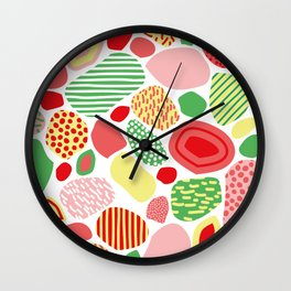 Confused Mosaic in Spring Wall Clock