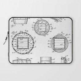 Whisky Barrel Patent - Whisky Art - Black And White Laptop Sleeve