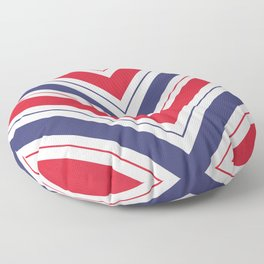 Patriotic Red White and Blue Chevron Stripes Floor Pillow