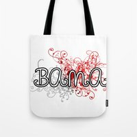 alabama Tote Bags featuring Alabama by Tanie