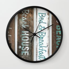 Beach Signs Wall Clock