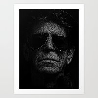 lou reed Art Prints featuring LOU REED, SO FREE. by Robotic Ewe