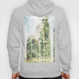 Cityscape and forest Hoody