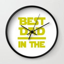 Best Dad In The Galaxy Wall Clock