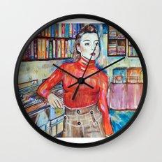 Russian Red, Singer, painting, illustration, art pop Wall Clock