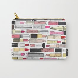 Lipsticks Makeup Collection Illustration Carry-All Pouch