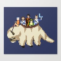 appa Canvas Prints featuring The Gaang by NeleVdM