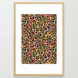 Calaveras del Día de los Muertos. Framed Art Print