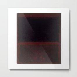 1960 Black on Dark Sienna On Purple by Mark Rothko Metal Print