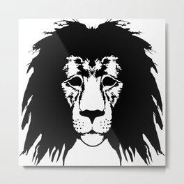 Lion Illustration Metal Print