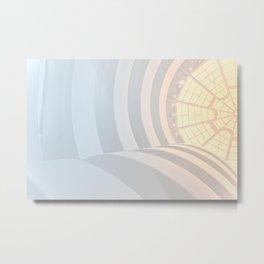 Sunny curves Metal Print