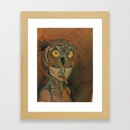 stare of an owl Framed Art Print