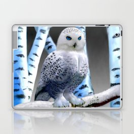 Blue-eyed Snow Owl Laptop & iPad Skin