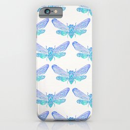 Summer Cicada – Blue Ombré Palette iPhone Case