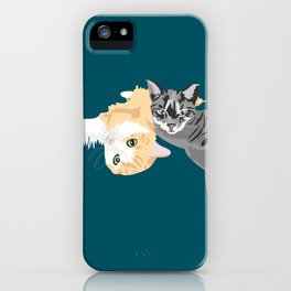 Keira and Shadow iPhone Case