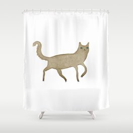 Suspicious-Looking Moggy Shower Curtain