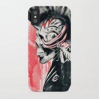 punk iPhone & iPod Cases featuring PUNK by Ali GULEC