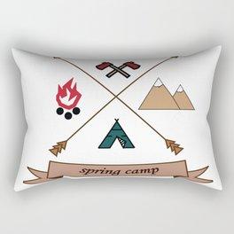 Camping Spring Camp adventure design Rectangular Pillow