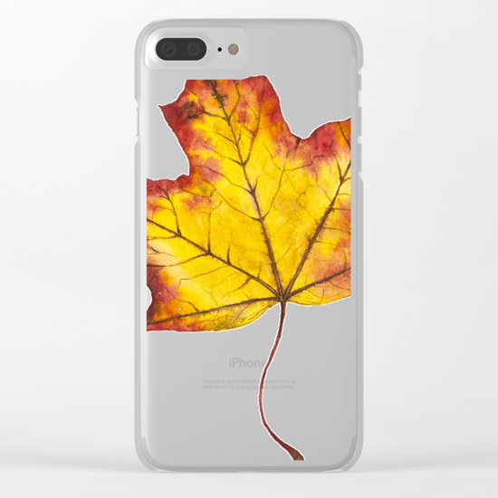 Autumn Leaf 04 Clear iPhone Case