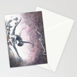 Gymnast with ribbon & hearts Stationery Cards