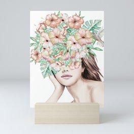She Wore Flowers in Her Hair Island Dreams Mini Art Print