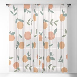 Clementines  Sheer Curtain