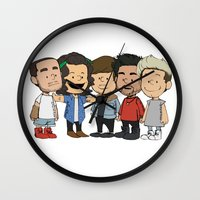 1d Wall Clocks featuring Schulz 1D by Ashley R. Guillory