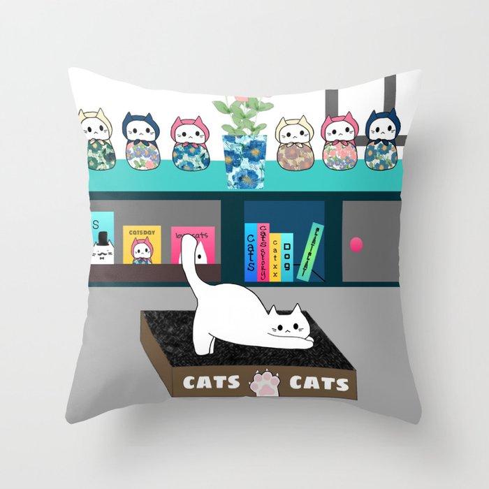 cats 625 Throw Pillow