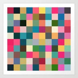 Multicolor Pixel Tiles Art - Kumulipo Art Print