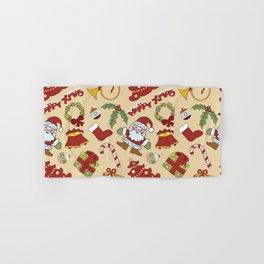 Christmas bells,tree and santa claus SB10 Hand & Bath Towel