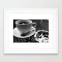 cafe Framed Art Prints featuring cafe by Emily Baker Photography and Design