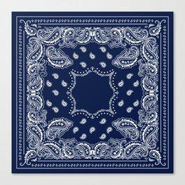 Bandana - Navy Blue - Boho Canvas Print