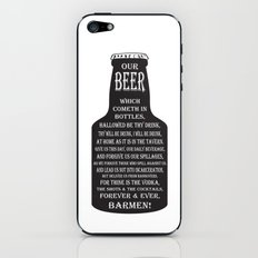 BEER PRAYER iPhone & iPod Skin