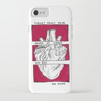 house of cards iPhone & iPod Cases featuring House of Cards in Red  by Art by Alexandra