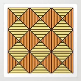 Geometric Triangle Pattern Art Print