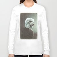 poodle Long Sleeve T-shirts featuring Poodle by womoomow