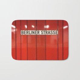 Berlin U-Bahn Memories - Berliner Strasse U7 Bath Mat