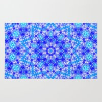 snowflake Area & Throw Rugs featuring Snowflake by Kimberly McGuiness