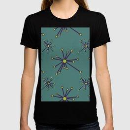 Ocean Green Lagoon Abstracted Modern Purple Sea Urchins T-shirt