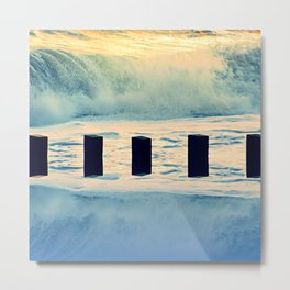 Surf breaker Metal Print