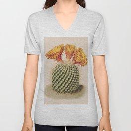 Cactus Flowers Unisex V-Neck
