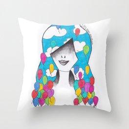 365 cabelos - up Throw Pillow