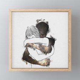 I would keep you forever (GOLD). Framed Mini Art Print