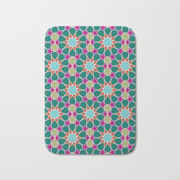 islamic geometric pattern Bath Mat