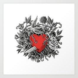 Heart of Thorns - option  Art Print